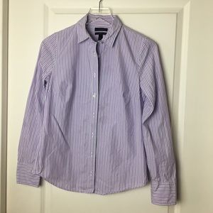 J. Crew | Perfect shirt in lilac stripe